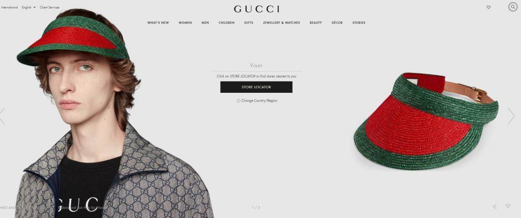 gucci visor online store