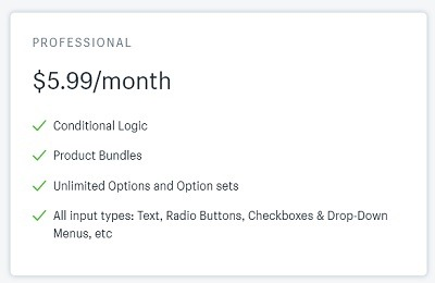 infinite options shopify app pricing