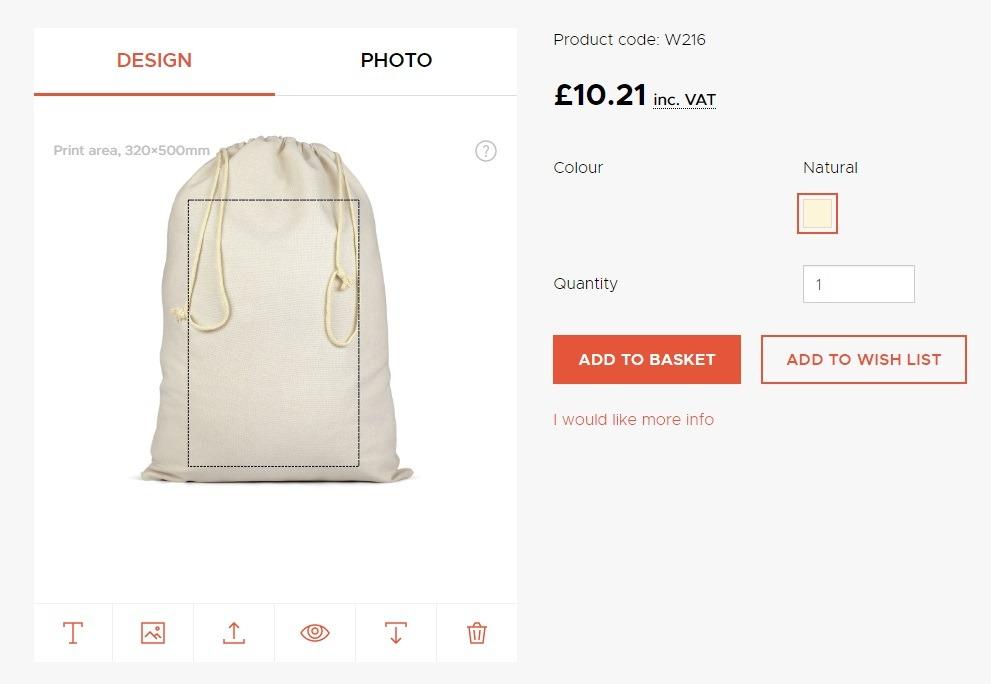 inthreadable print on demand drawstring bags