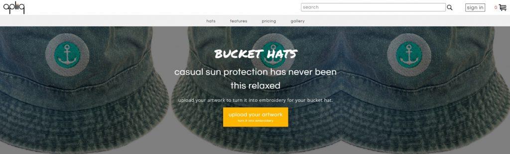 print on demand bucket hats apliiq