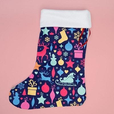 print on demand Christmas stockings contrado