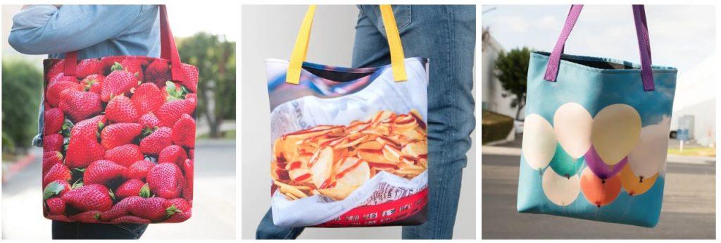 printful print on demand tote bag examples