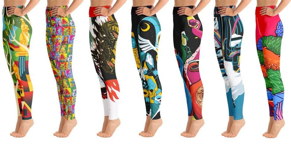 print on demand yoga pants