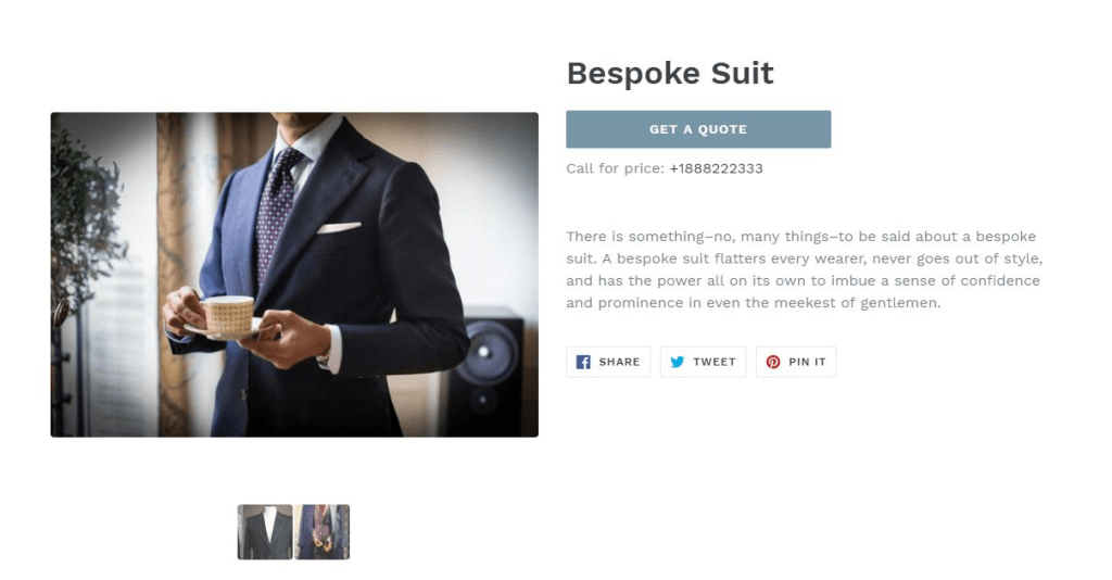 custom buttons for shopify store to get a quote