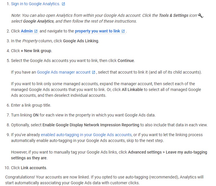 how to link google accounts