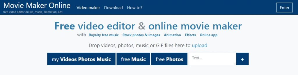 move maker online video editing free