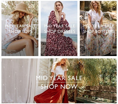 Bohemian Traders eCommerce clothing store example
