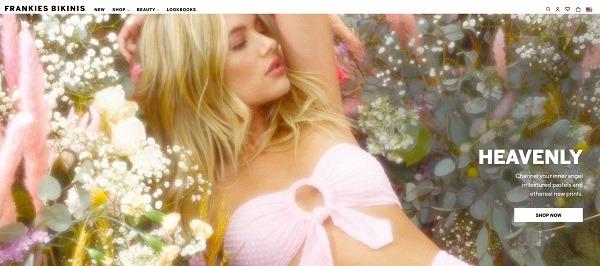 Frankies bikinis eCommerce clothing store example