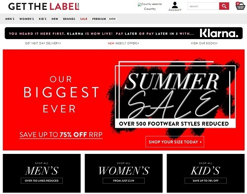 Get the Label eCommerce clothing store example