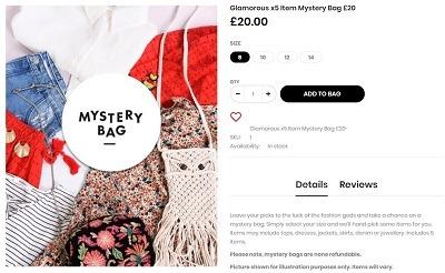 Glamorous mystery box product ideas
