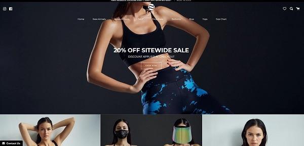 Noli Yoga eCommerce clothing store example