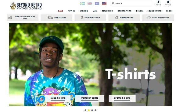 beyond retro eCommerce clothing store example 2