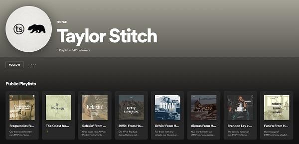 branded playlists on spotify