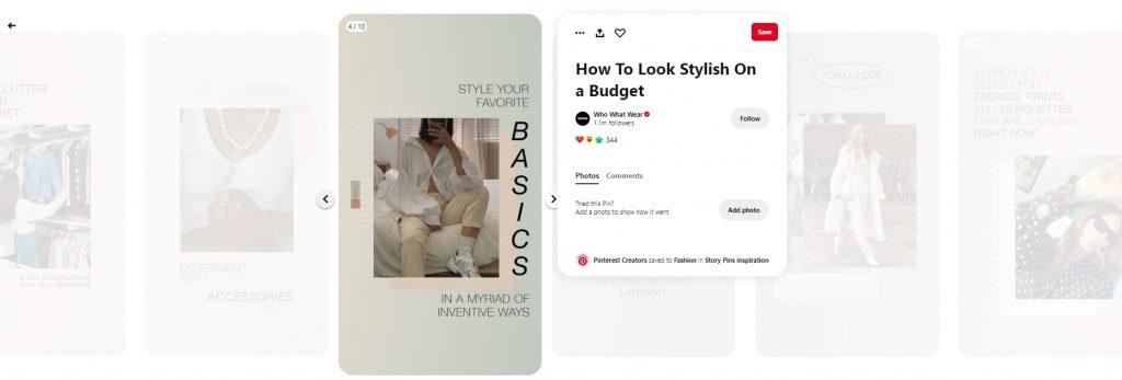 story pins example fashion 2