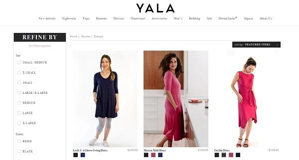 yala category product displays