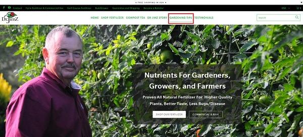 DR JimZ website valuable content for ecommerce 1
