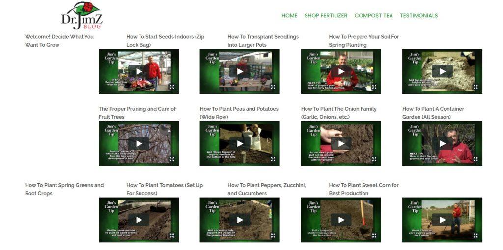 DR JumZ website valuable content for ecommerce