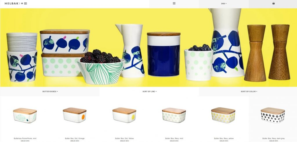 Helbak eCommerce product category page