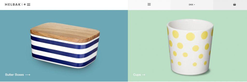 Helbak eCommerce website example