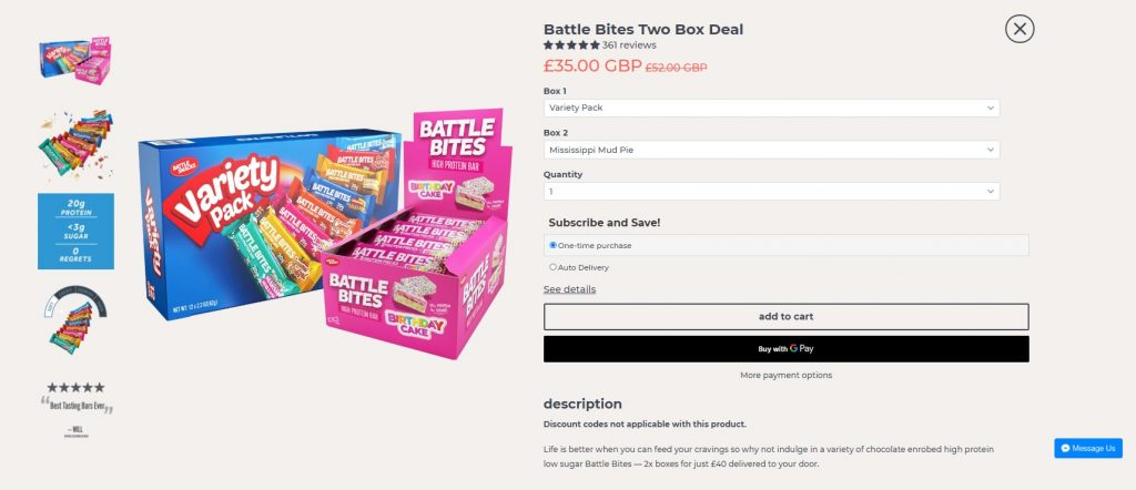 battle snacks product display example 2