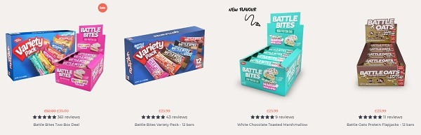 battle snacks product display example