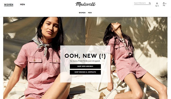 madewell online store example