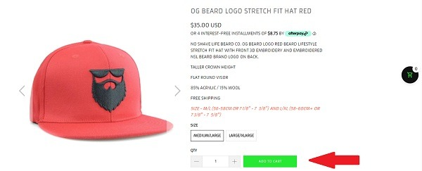 no shave life product page example