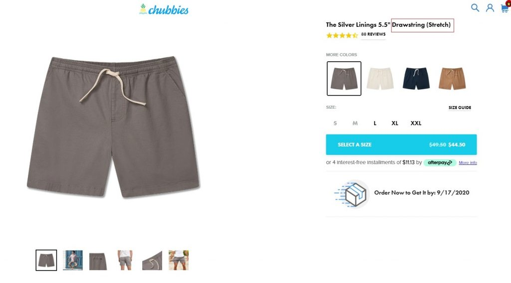 shopify store product description example