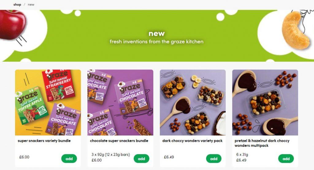 graze online store design example 3