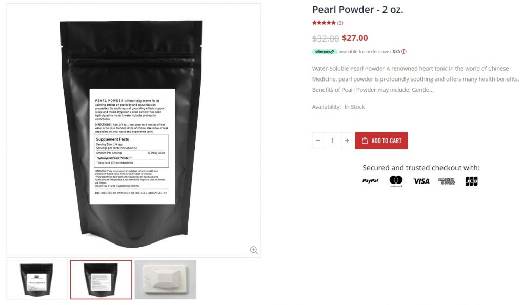 online store product description example