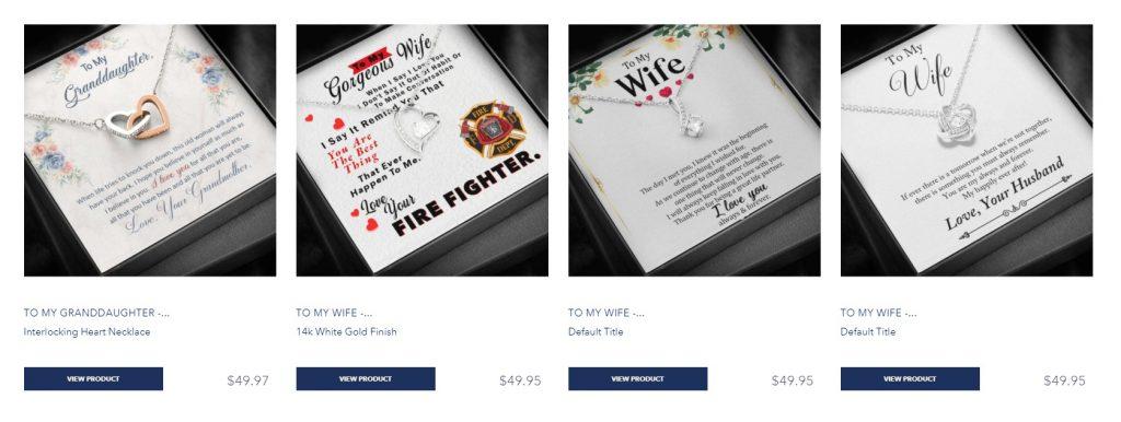 ShineOn winning online jewelry store example