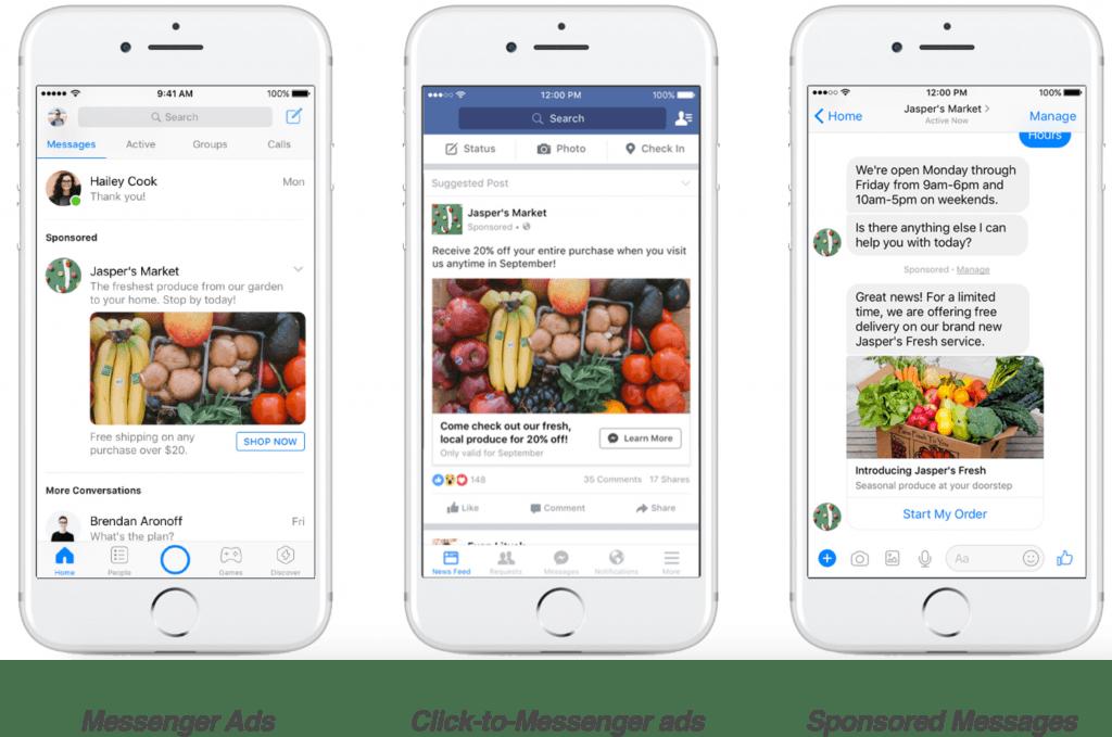 facebook messenger ads example