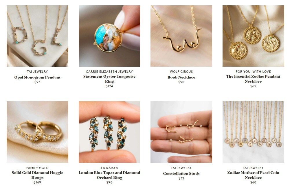 local electic successful online jewelry store example
