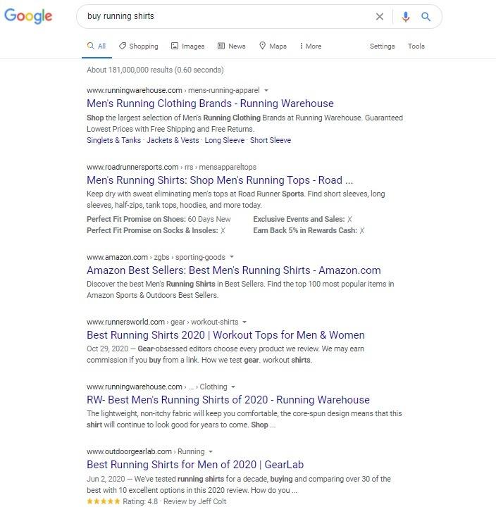 google search keyword research
