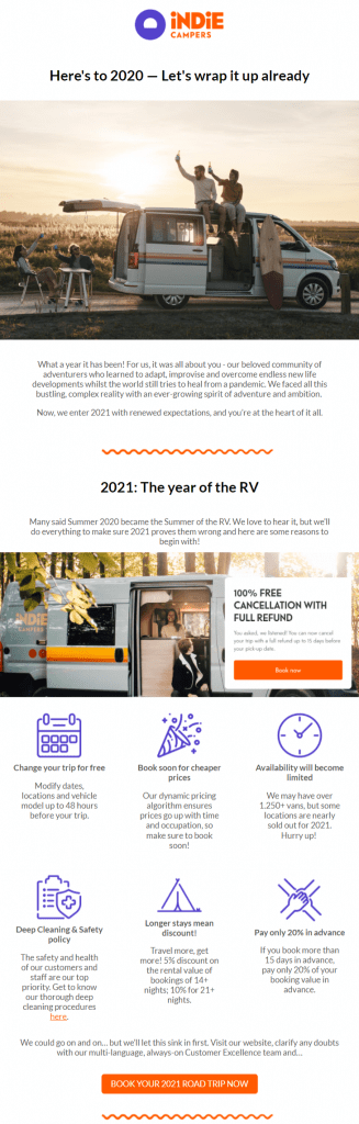 new years ecommerce email example