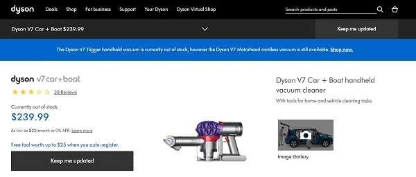 dyson car and boat vacuum