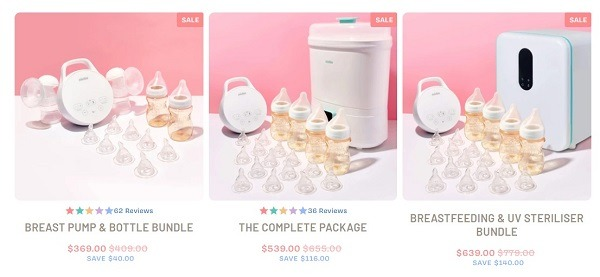 minibie online store example buddled baby products