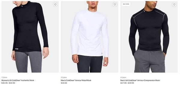 mock top online store example under armour