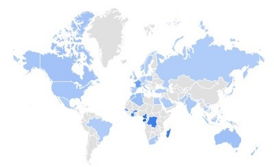 pendants trending per region