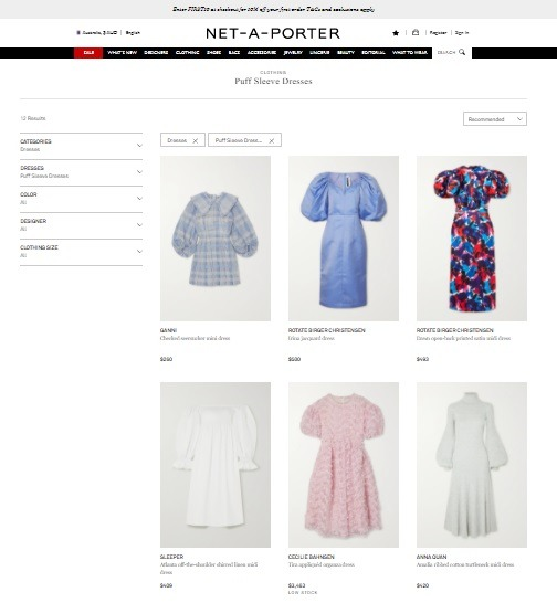 puff sleeve dress online store example net-a-porter