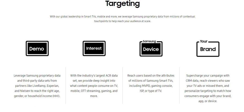 Samsung tv ad platforms