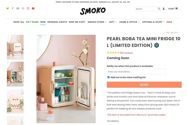 smoko successful online store example