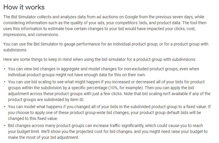 how google bid stimulator works