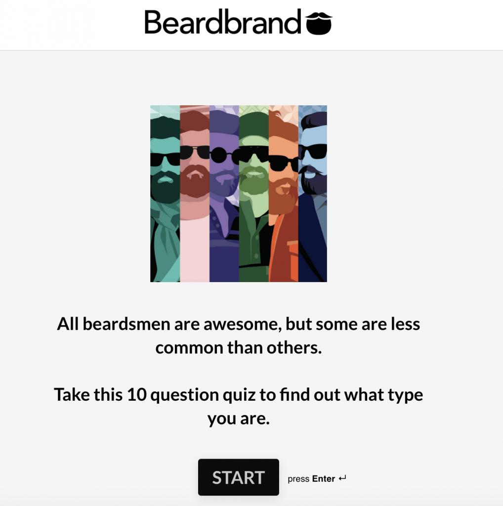 Beardbrand interactive quiz
