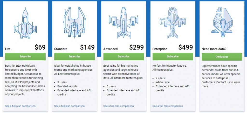serpstat pricing options