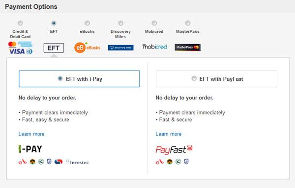eCommerce payment option examples