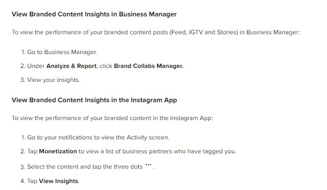 how to view branded content insights