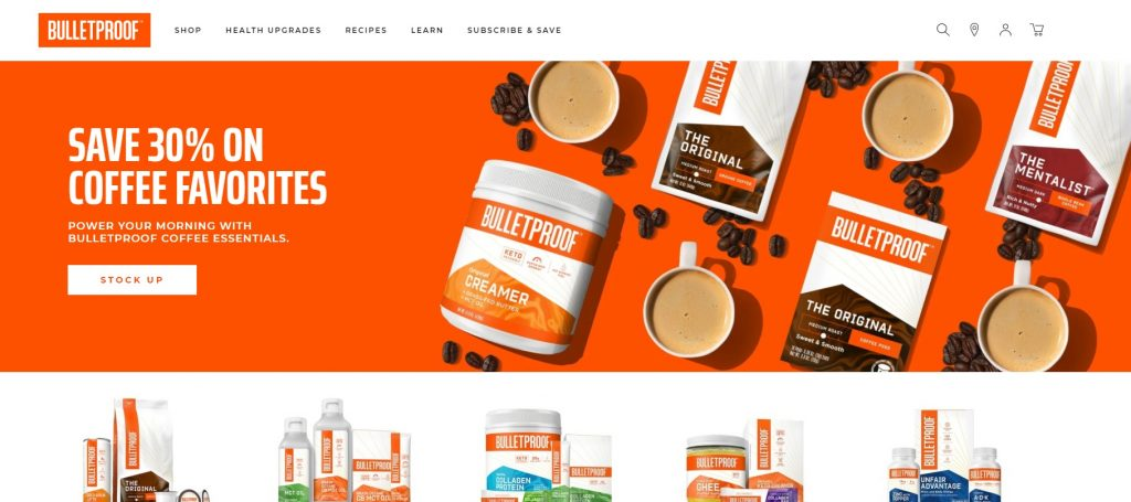 online store CTA example